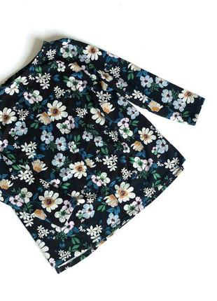 Красиввя фактурная блуза в цветочный принт