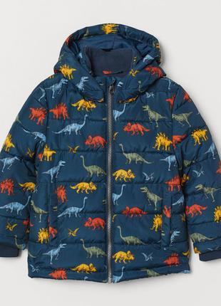 Куртка, демисезонная, для мальчика, h&m, динозавры, размер 140 (9-10лет), 21080