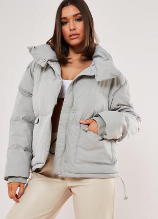 Зимняя куртка оверсайз missguided,uk14