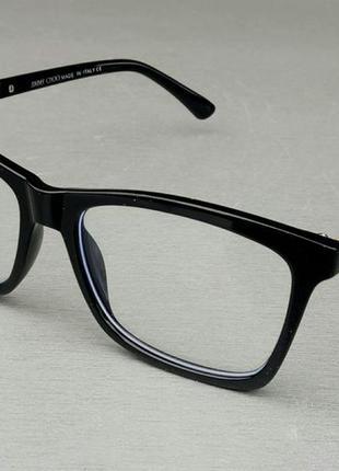 Jimmy choo очки женские имиджевые оправа для очков черная с золотистыми вставками