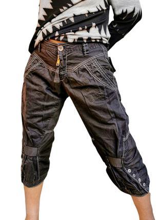 Льняные джинсы укороченные бриджи лен шорты marithe francois girbaud средняя посадка