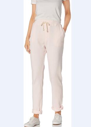 Пудровые хлопковые штаны для спорта с высокой посадкой начесом фланель rip curl размер s-m