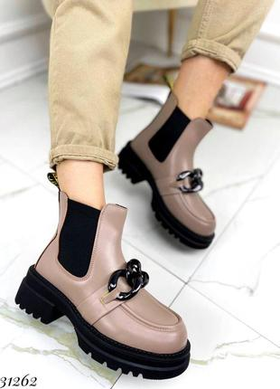 Ботинки челси эко кожа