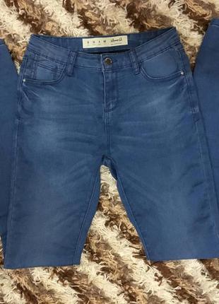 Синие джинсы скини denim co