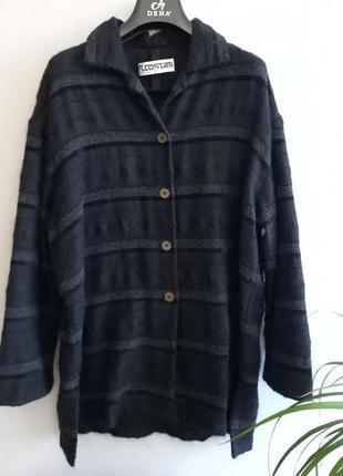 Винтажная рубашка шерстяная рубашка m.costas paris
