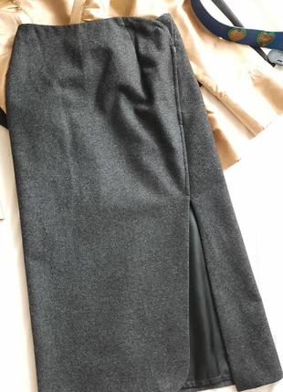 Шикарная шерстяная юбка миди jil sander.
