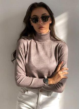 Гольф воротник под горло милано milano кашемир свитер водолазка женская цвета
