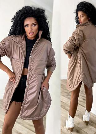 Женская удлиненая куртка рубашка