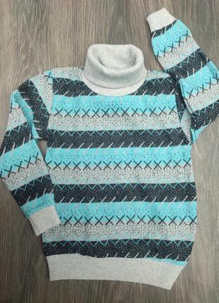 Теплый свитерок гольф водолазка для мальчика