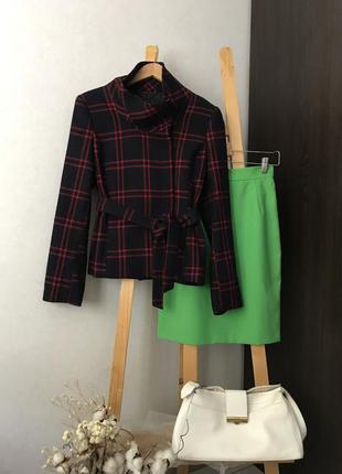 Шерстяне пальто піджак з поясом