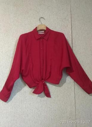 Рубашка короткая унисекс под завязку