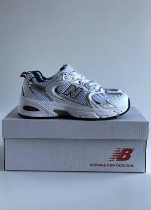 Женские, подростковые кроссовки new balance 530 white, silver / белый, серебристый / жiночi пiдлiтковi кросiвки нью беланс