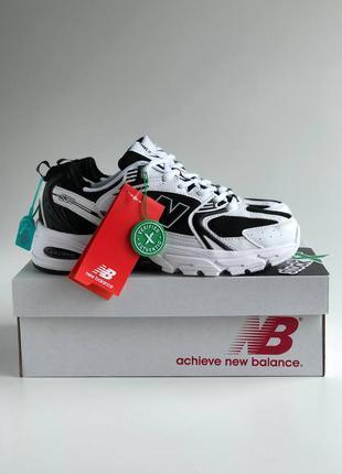 Женские, подростковые кроссовки new balance 530 white, black / белый, черный / жiночi, пiдлiтковi кросiвки нью беланс