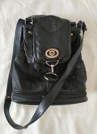 😎❤️💣винтажная сумка-хобо черная кожаная❤️ ruby rose🌹 original fashion ❤️модель 90-х👜💣💥