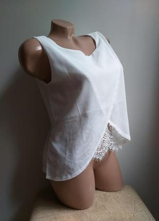 Белая блуза. футболка кружево. кружевная блуза. топ.