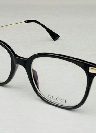 Gucci очки женские имиджевые оправа для очков черная с золотом