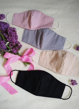 Багаторазові тканинні маски 100% бавовна