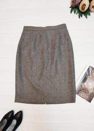 Спідниця міді олівець юбка миди карандаш шерсть 100% italy