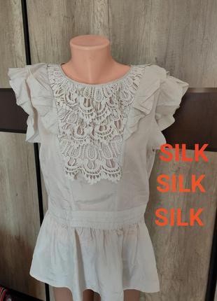 💯 натуральний шовк шелк 🔥❤️ блуза. без нюансів, ідеальний стан 🔥🔥пог 52_53