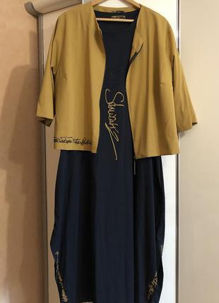 Костюм-двойка платье с жакетом