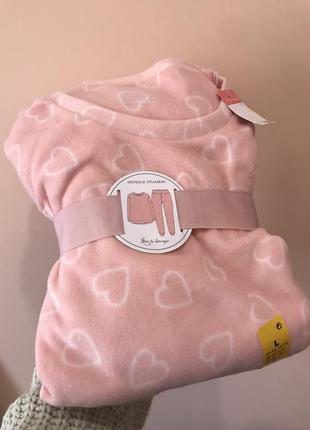 Теплая флисовая пижама primark размер l большемерит