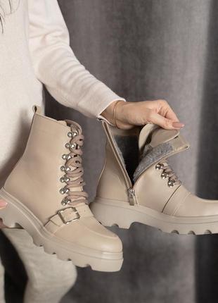 Женские ботинки осень-зима мех