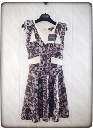 Вечернее платье с кружевом topshop