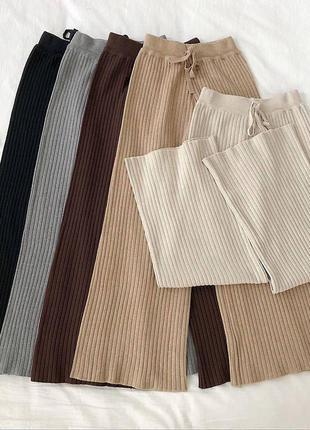 Тёплые трикотажные кюлоты❣️ цвет: чёрный, бежевый, айвори, мокко, серый