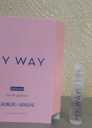Парфюмированная вода my way intense giorgio armani 1,2 мл