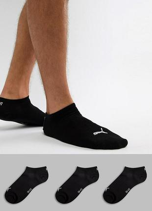 Набір шкарпетки 3шт puma unisex sneaker plain 3p оригінал носки 35-42 чорні