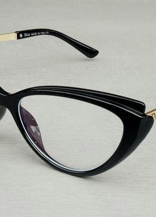 Christian dior очки женские имиджевые оправа для очков черная с золотом