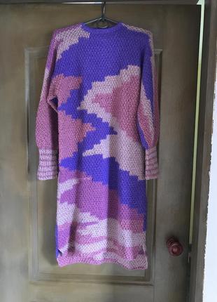 Платье туника женское вязаное ручная работа