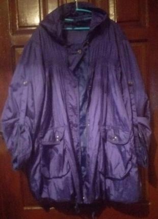Куртка-вєтровка великого розміру
