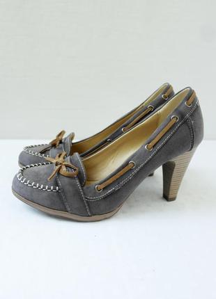 Новые(сток) стильные туфли graceland. размер uk 5/ eur 38.