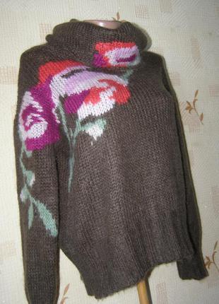 Stile benetton гольф пуловер с мохером m-l-размер. италия
