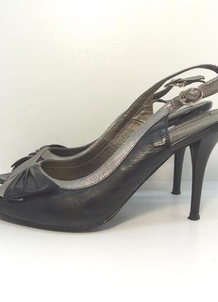 Женские кожаные туфли босоножки kadandier р. 38-39