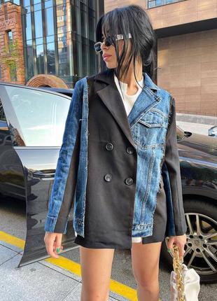 Стильные пиджаки  в двух расцветках💔💔💔  эксклюзив 😍 качество🔥  〰️ арт. 705 🔻размер уни 42-46