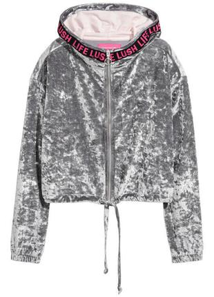 Свіжа колекція. костюм з худі zara larson &h&m crushed velvet joggers & short hooded jacket оригінал