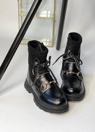 Детские ботинки под бренд, ботинки на шнурках и замке