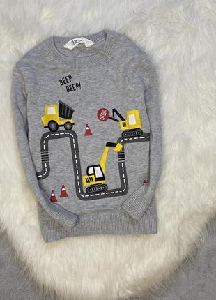 Стильный свитер 2-4 года h&m