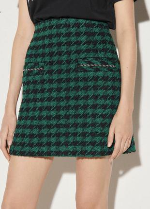 Короткая юбка из твида сандро sandro paris