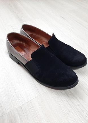 Туфли, кожа, замш, кожаные, замшевые, блестящие