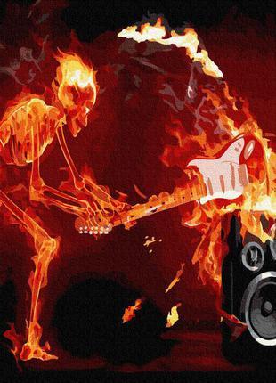 Картина по номерам огненный рок