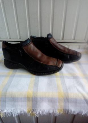 Кожаные теплые женские туфли из натуральной кожи и внутри шерсть