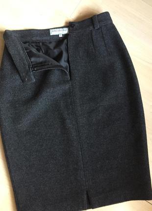 Оригинальная шерстяная юбочка р.s-m