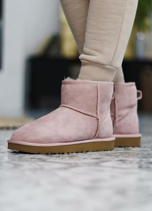 ❄️ женские угги ugg classic ii mini pink