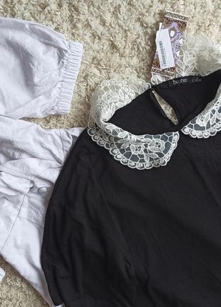Платье футболка с белым воротником