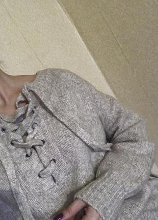 Тренд wool свитер zara