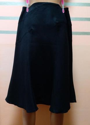 Черная льняная юбка armani jeans
