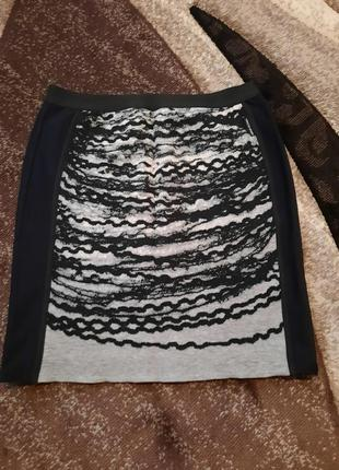 Тёплая юбка с шерстью marc cain
